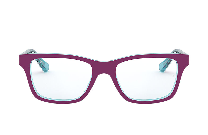 Ray-Ban  eyeglasses RY1536 CHILD 005 rb1536 burgundy on light blue 8053672978292