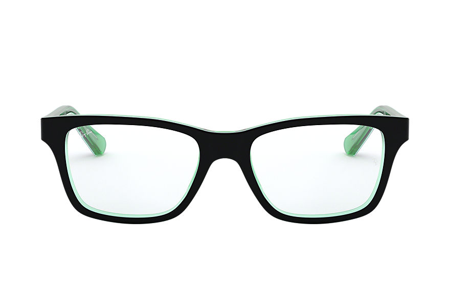 Ray-Ban  eyeglasses RY1536 CHILD 006 rb1536 black on green 8053672978315