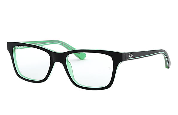 Ray-Ban		 0RY1536-RB1536 Black on Green,Groen; Zwart,Groen OPTICAL