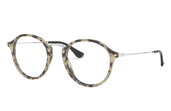 0028e0e29c Ray-Ban prescription glasses Round Fleck RB2447V Beige Havana ...