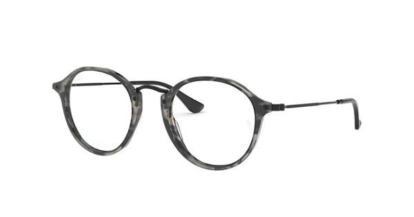 2cd0f24715 Ray-Ban prescription glasses Round Fleck RB2447V Grey Havana - Acetate -  0RX2447V583347