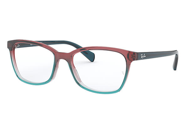 Ray-Ban 0RX5362-RB5362 Trigradient Blue and Red and light Blue,Azul; Azul OPTICAL