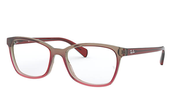 7a7e57b683 Ray-Ban prescription glasses RB5362 Trigradient Burgundy and Grey ...