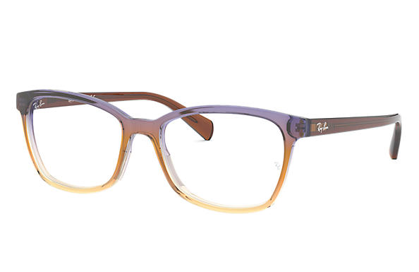 Ray-Ban 0RX5362-RB5362 Trigradient Brown and Violet and Yellow,Brown; Brown OPTICAL