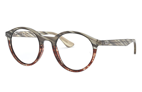 Ray-Ban 0RX5361-RB5361 Striped Grey Gradient Brown,Grey; Grey OPTICAL