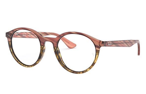 Ray-Ban 0RX5361-RB5361 Striped Pink Gradient Beige,Pink; Pink OPTICAL