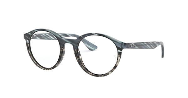 cbfb425413 Ray Ban prescription glasses RB5361 Striped Blue Gradient