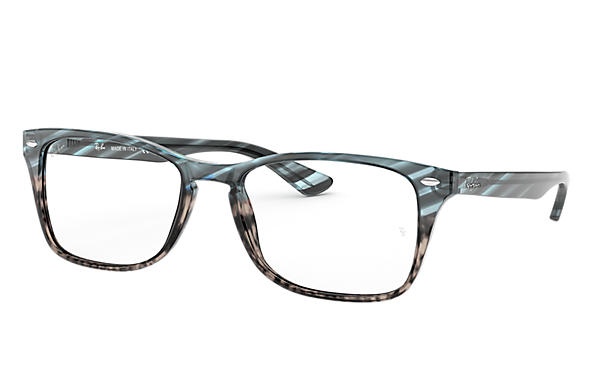 Ray-Ban 0RX5228MF-RB5228MF Striped Blue Gradient Grey,Transparent; Blue OPTICAL