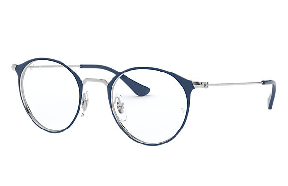 Ray-Ban 0RX6378-RB6378 Blue on Silver,Argent; Argent OPTICAL