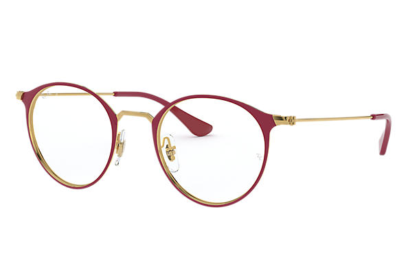 Ray-Ban 0RX6378-RB6378 Bordeaux,Gold; Gold OPTICAL