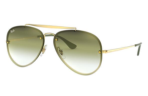 60a1d4fd37 Ray-Ban Blaze Aviator RB3584N Gold - Steel - Green Grey Lenses ...