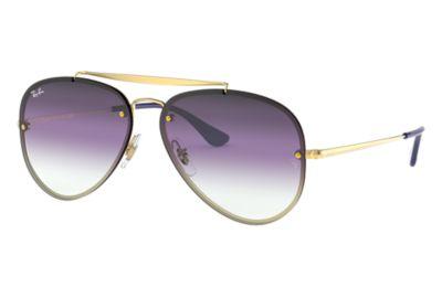 Comprar Ray-Ban Gafas-de-sol BLAZE AVIATOR Oro con lente Violeta/Azul Degradada espejada
