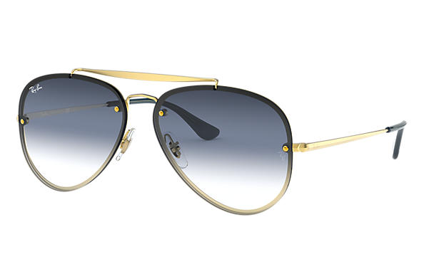 e527a9287 Ray-Ban Blaze Aviator RB3584N Gold - Steel - Light Blue Lenses ...