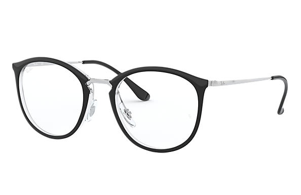 Ray-Ban 0RX7140-RB7140 Black,Transparent; Silver OPTICAL