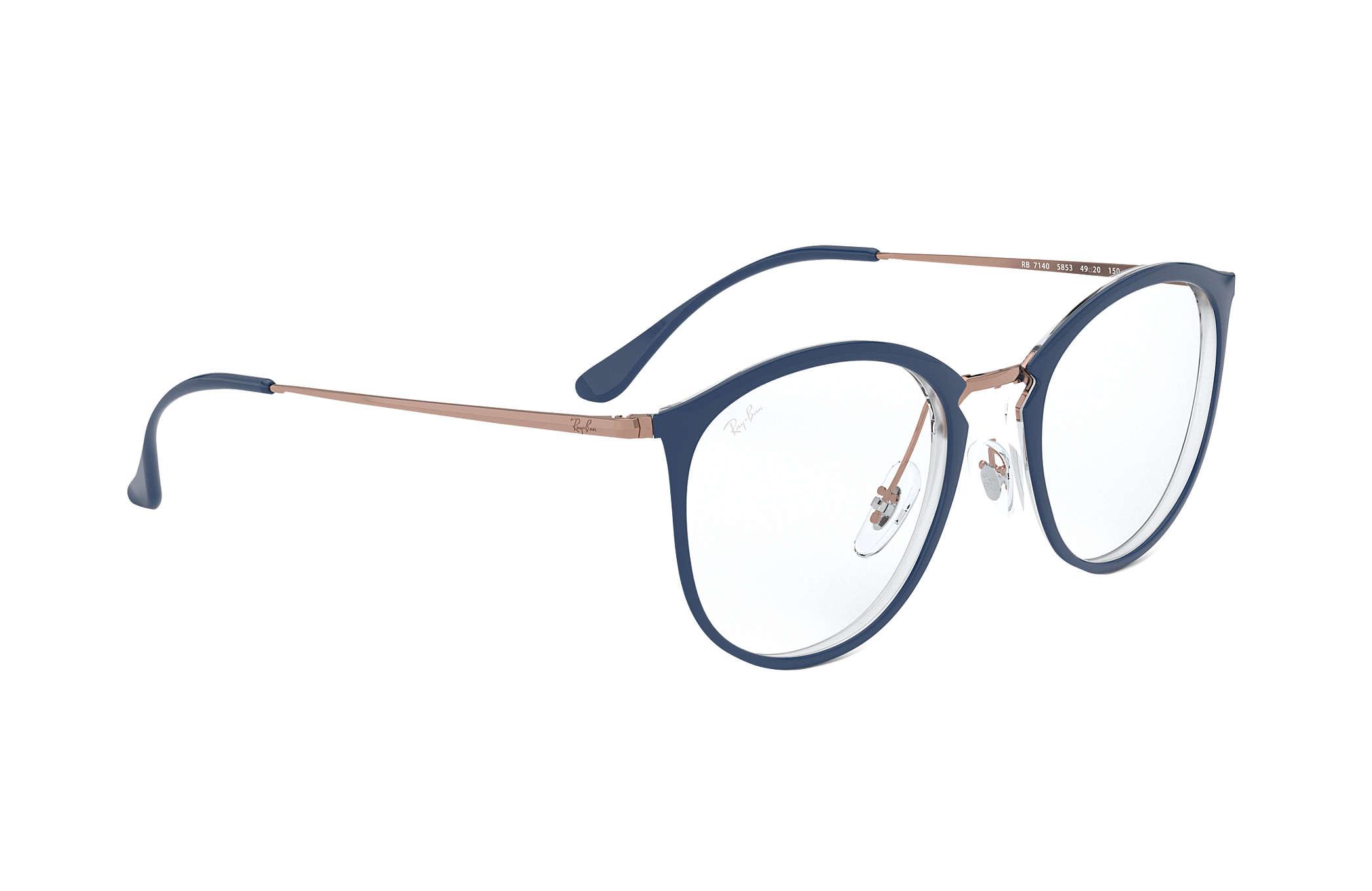 963a50dbb Óculos de grau Ray-Ban RB7140 Azul - Injetado - 0RX7140585351 | Ray ...