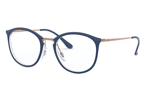 Ray-Ban 0RX7140-RB7140 Azul,Transparente; Bronce-Cobre OPTICAL