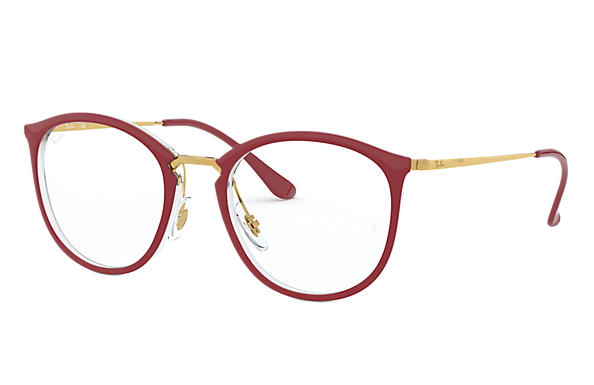 Ray-Ban 0RX7140-RB7140 Bordeaux,Transparent; Gold OPTICAL