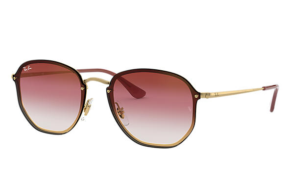 Ray-Ban 0RB3579N-BLAZE HEXAGONAL Gold SUN