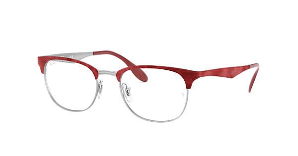 5a09cbfb3b6 Ray-Ban prescription glasses RB6346 Red - Steel - 0RX6346302150 ...