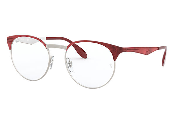 Ray-Ban 0RX6406-RB6406 Rouge,Argent OPTICAL