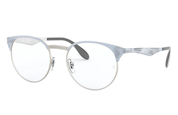 Ray-Ban 0RX6406-RB6406 Blanc,Argent OPTICAL