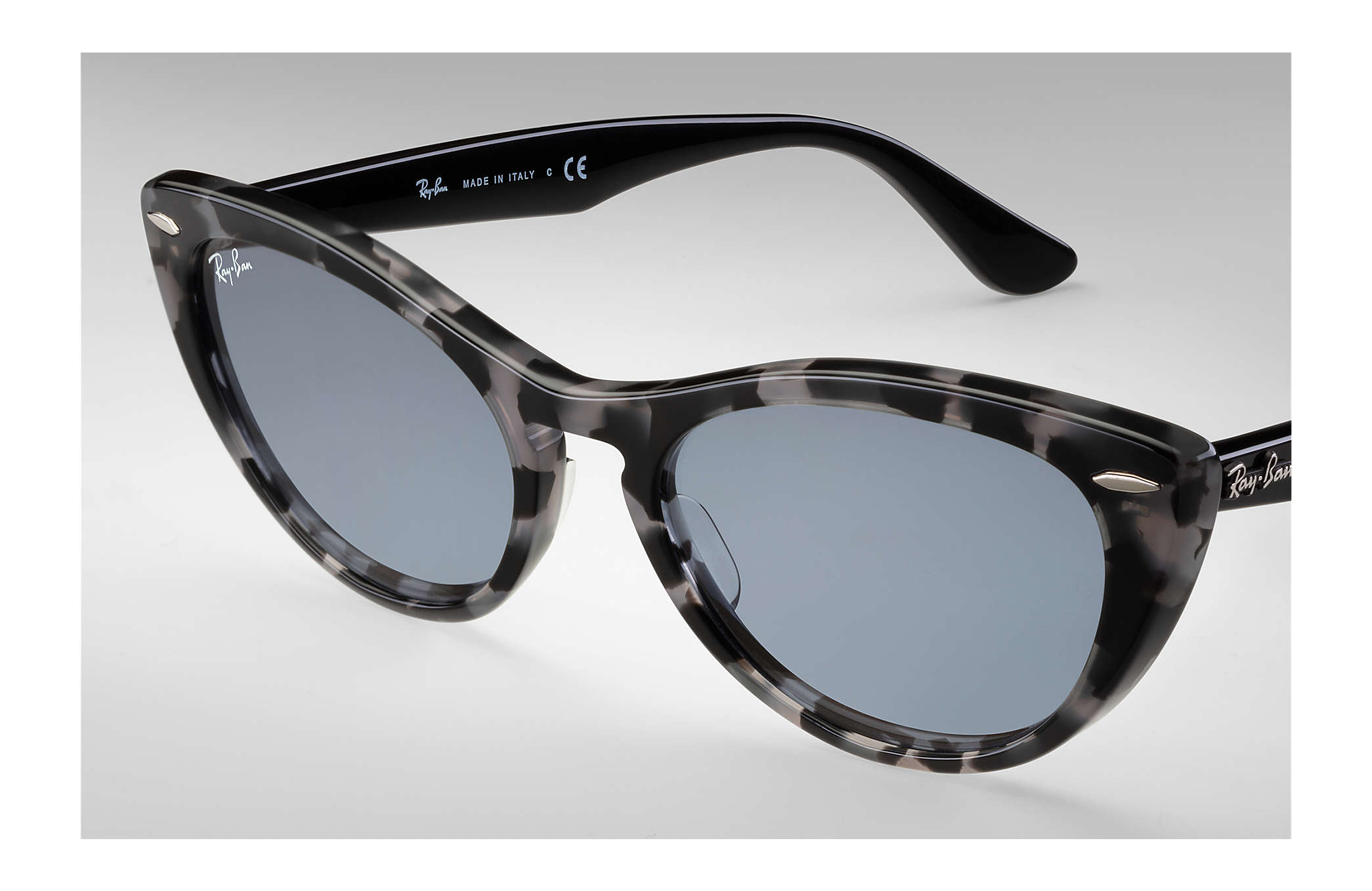 4fd90b8550fac Ray-Ban Nina RB4314N Grey Havana - Propionate - Blue Lenses ...