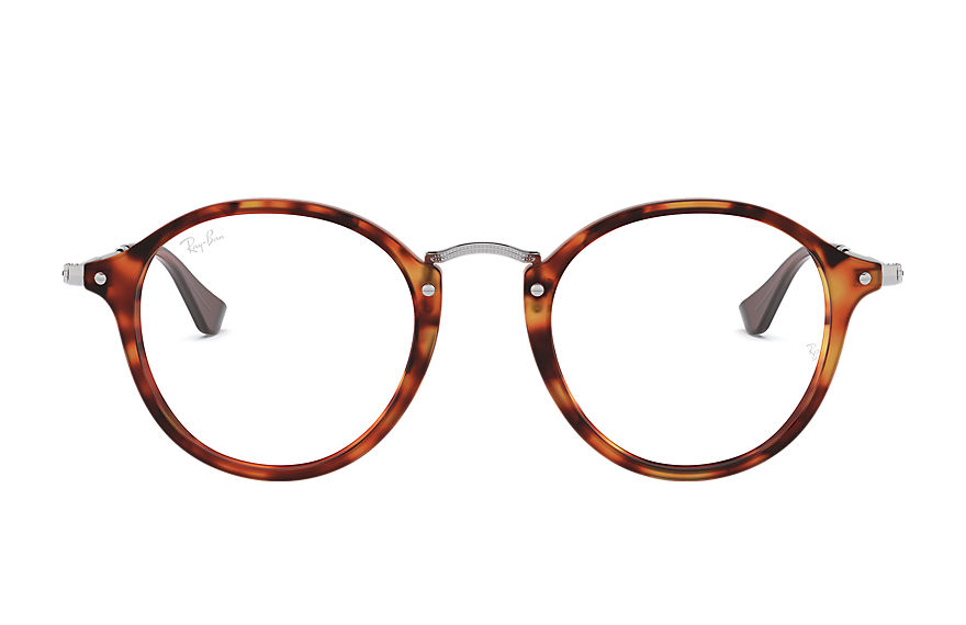 Ray-Ban  eyeglasses RX2447VF MALE 003 round fleck 레드 하바나 8053672984989