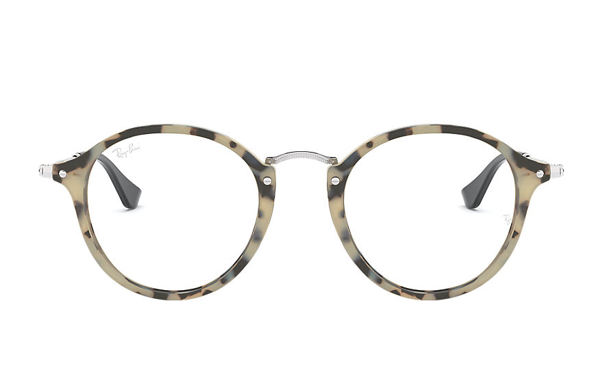 Ray-Ban  eyeglasses RX2447VF MALE 002 round fleck 베이지 하바나 8053672984996