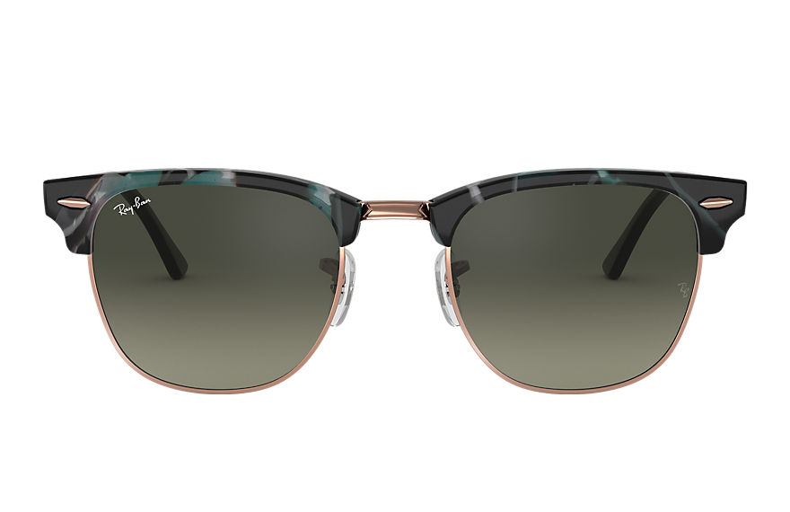 Ray-Ban  sunglasses RB3016F UNISEX 012 clubmaster fleck spotted grey and green 8053672985146