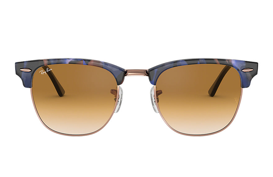 Ray-Ban  sunglasses RB3016F UNISEX 010 clubmaster fleck spotted brown and blue 8053672985160
