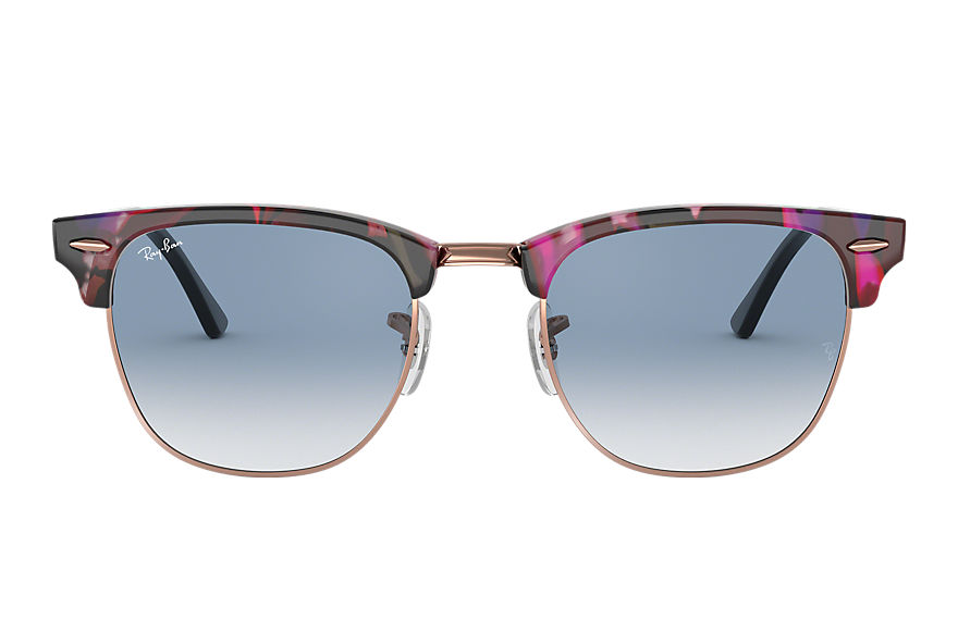 Ray-Ban  sunglasses RB3016F UNISEX 011 clubmaster fleck spotted grey and violet 8053672985184