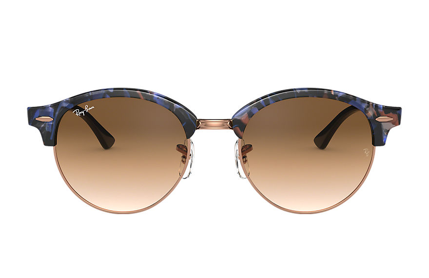 Ray-Ban  sunglasses RB4246F UNISEX 006 派对型人 小雀斑 spotted brown and blue 8053672985214