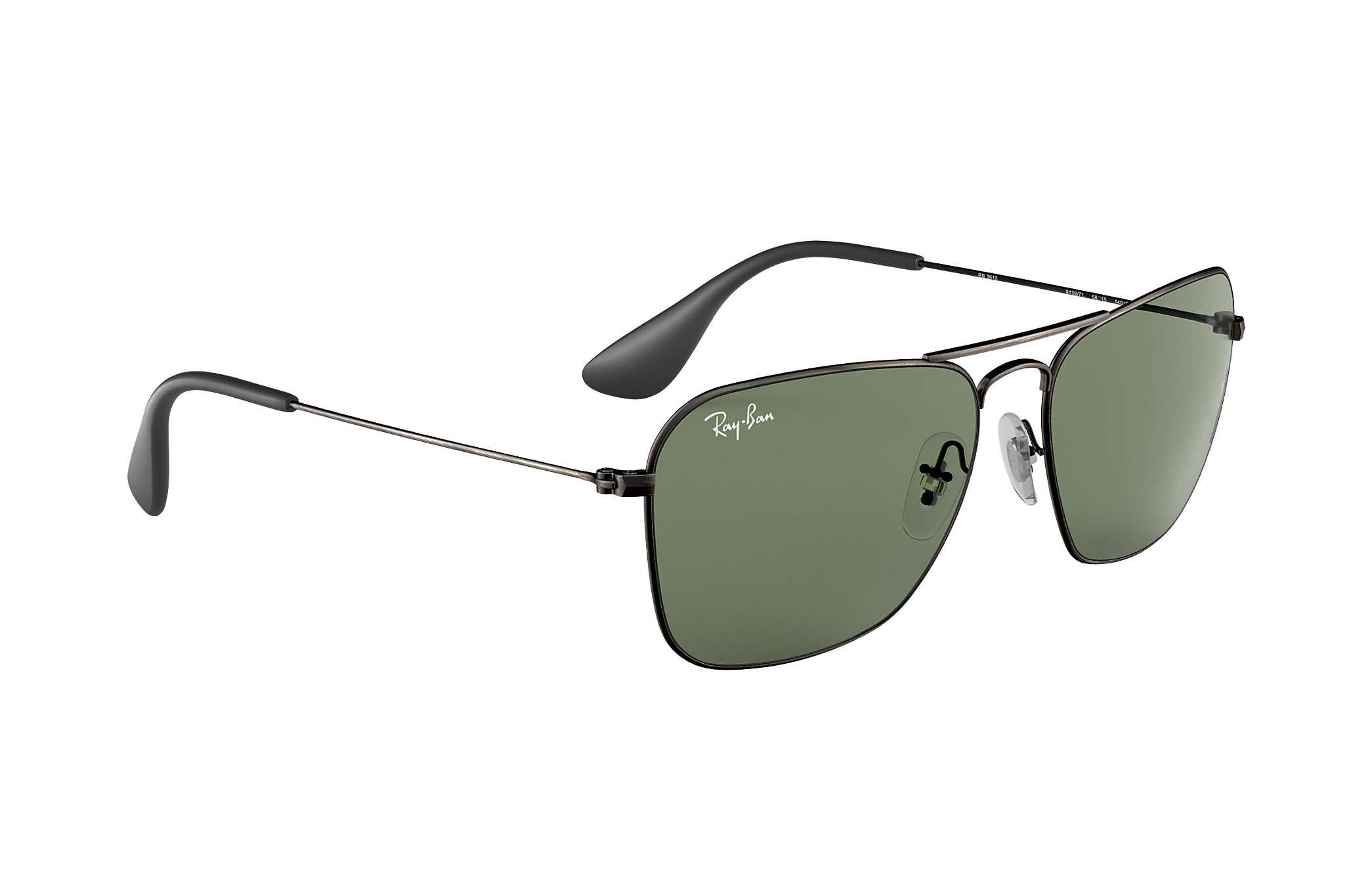 e0c3d4c8bf7 Ray-Ban RB3610 Black - Metal - Green Lenses - 0RB361091397158