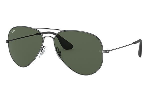 Ray-Ban Sunglasses RB3558 Antique Black with Green Classic lens