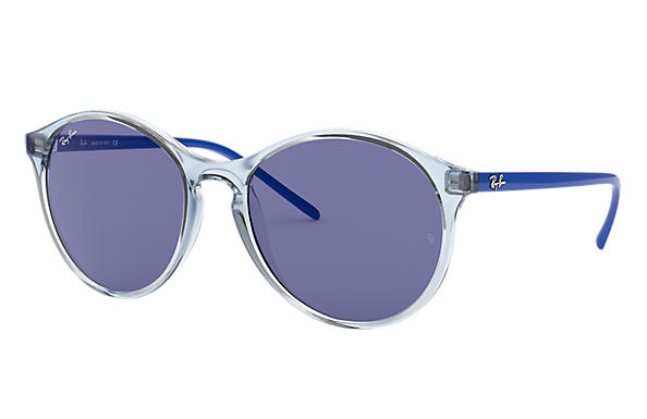 Ray-Ban RB4371 Light Blue with Dark Violet Classic lens