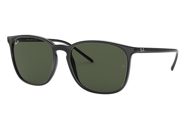 faa1f304dd7 Ray-Ban RB4387 Black - Nylon - Green Lenses - 0RB4387601 7156