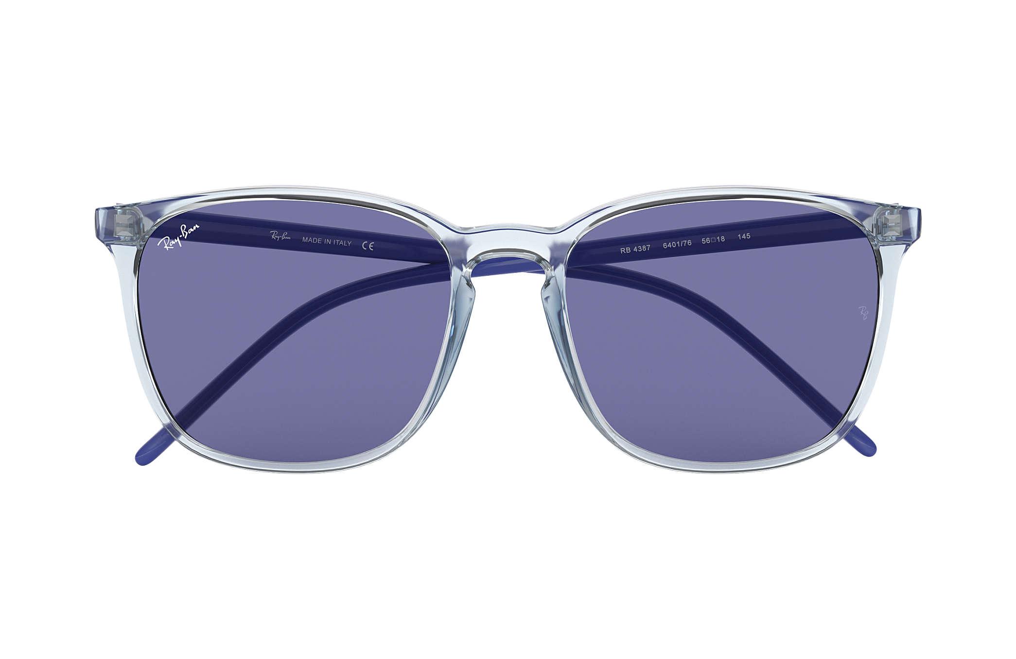 b14c967846b Ray-Ban RB4387 Light Blue - Nylon - Dark Violet Lenses ...