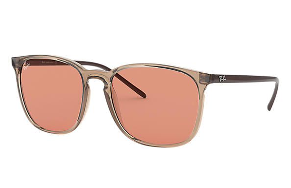 Ray-Ban Sunglasses RB4387 Light Brown with Orange Classic lens