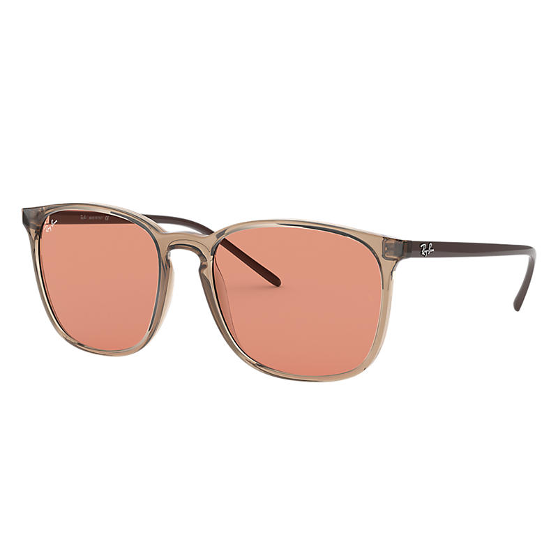 Ray Ban Rb4387 Light Brown, Orange Lenses - Rb4387