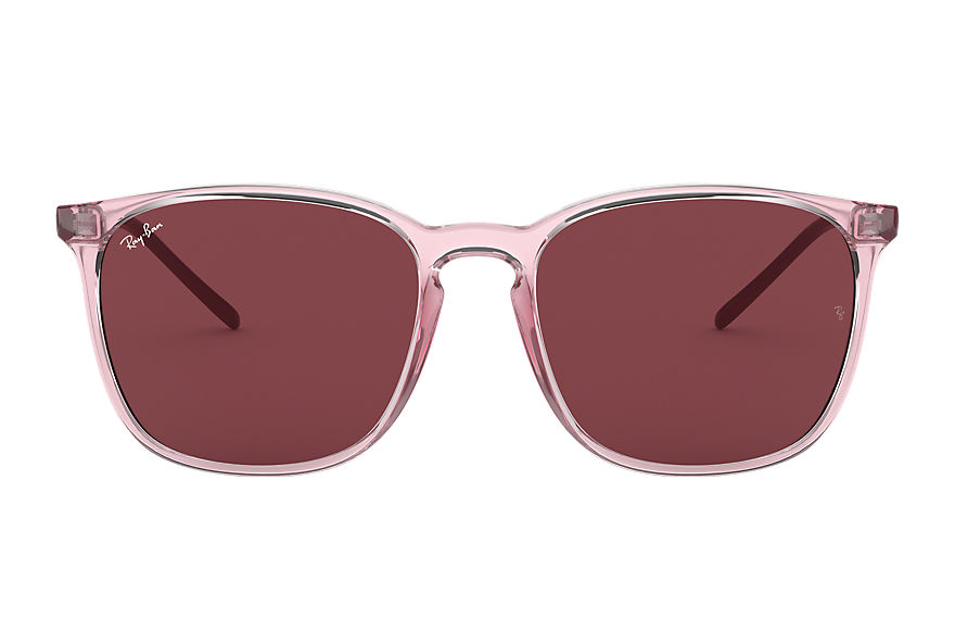 Ray-Ban Sunglasses RB4387 Pink with Dark Violet Classic lens