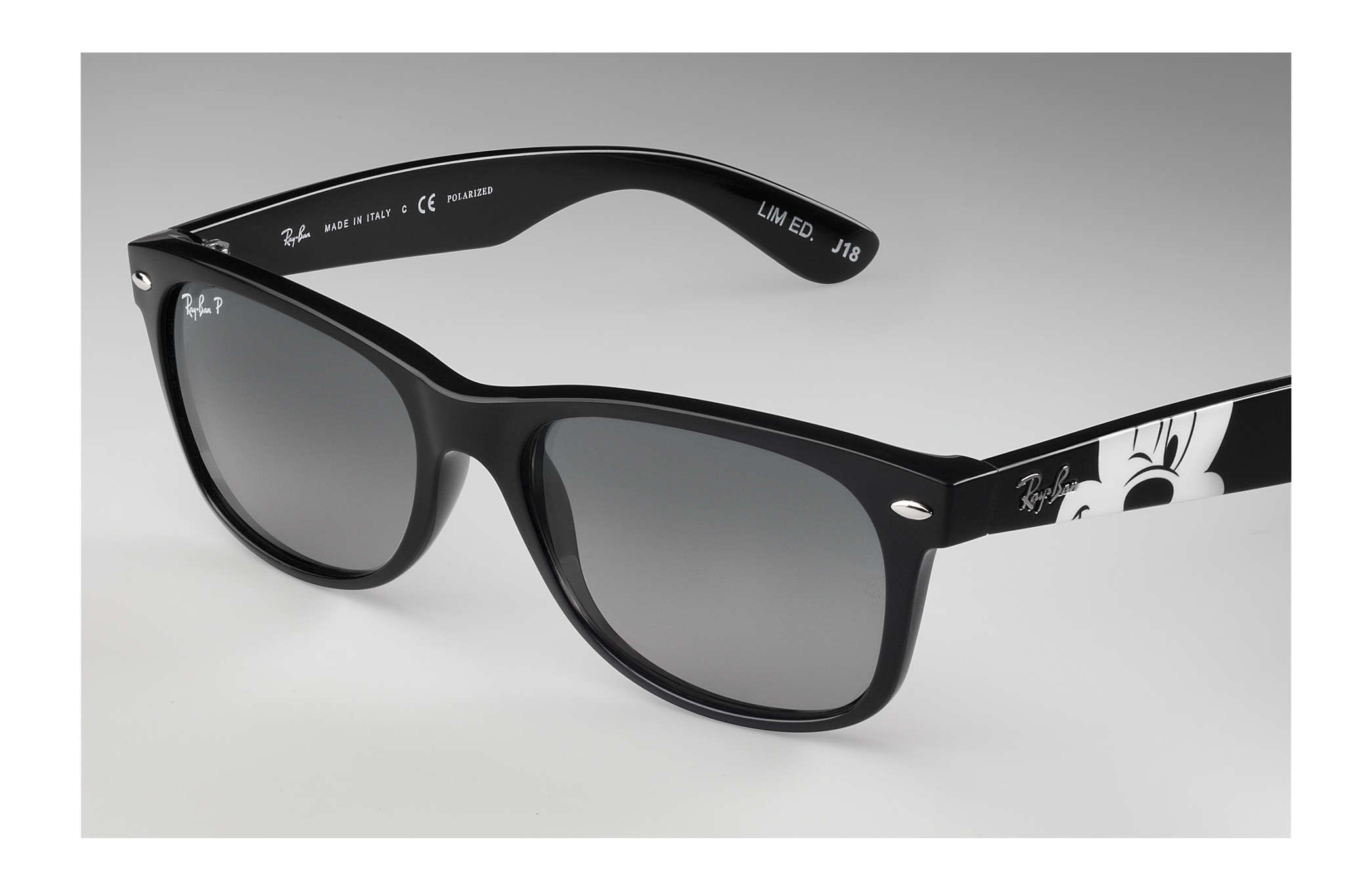 82401cbb3b85 Ray-Ban Rb2132 Mickey Mouse Collection RB2132 Black - Nylon - Grey ...
