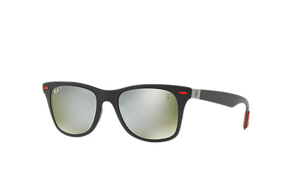 Ray-Ban Sunglasses SCUDERIA FERRARI BRAZIL LIMITED EDITION Black with Silver Mirror Chromance lens