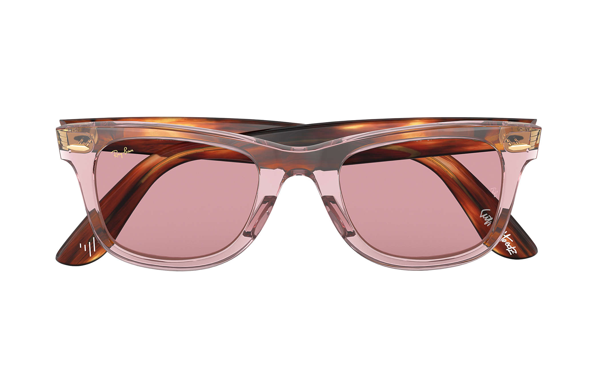 840cc2bb7d ... Ray-Ban 0RB2140-THE MARTINEZ BROTHERS WAYFARER Pink  Tortoise SUN ...