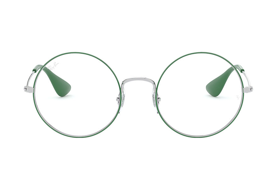 Ray-Ban  eyeglasses RX6392 UNISEX 002 ja jo optics green on silver 8053672988987