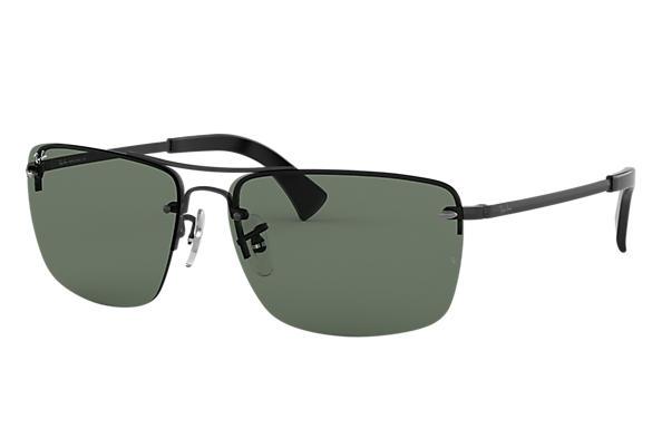 142f629283 Ray-Ban RB3607 Black - Metal - Green Lenses - 0RB3607002 7161