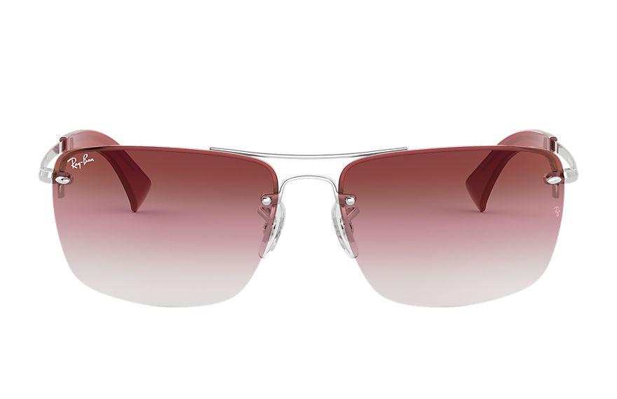 Ray-Ban Sunglasses RB3607 Silver with Dark Red Gradient Mirror lens