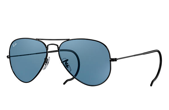 Ray-Ban Sunglasses AVIATOR RELOADED Black with Blue Legend lens