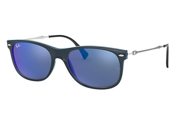 Ray-Ban 0RB4318-RB4318 Blue,Transparent; Silver SUN