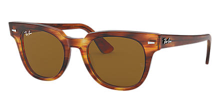 9f123b0a18 Ray-Ban METEOR CLASSIC Striped Havana with Brown Classic B-15 lens. Ray-Ban  sunglasses ...