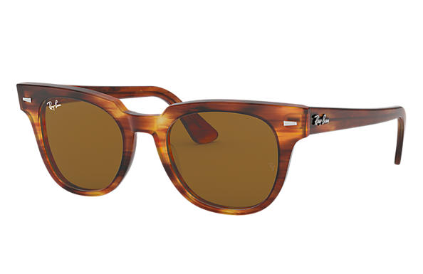 Ray-Ban METEOR CLASSIC Striped Havana with Brown Classic B-15 lens
